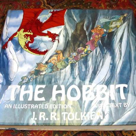 cover for the deluxe illustrated hardcover edition of the hobbit