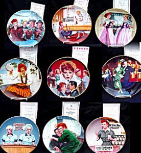 "Morgan Weistling set of ""I love Lucy"" collector plates for Hamilton Mint, 1997"