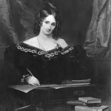 Mary Shelley, author of Frankestein (image from biography.com)