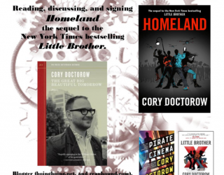 TOMORROW:  CORY DOCTOROW IN CONCORD NH AT GIBSON'S BOOKSTORE