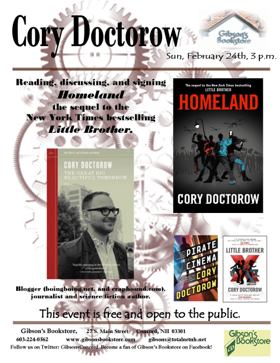 Cory Doctorow at Gibson's