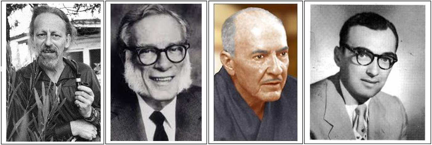 The Big Four of the Golden Age of Science Fiction - Theodore Sturgeon, Isaac Asimov, Robert Heinlein, and Albert Elgin van Vogt.