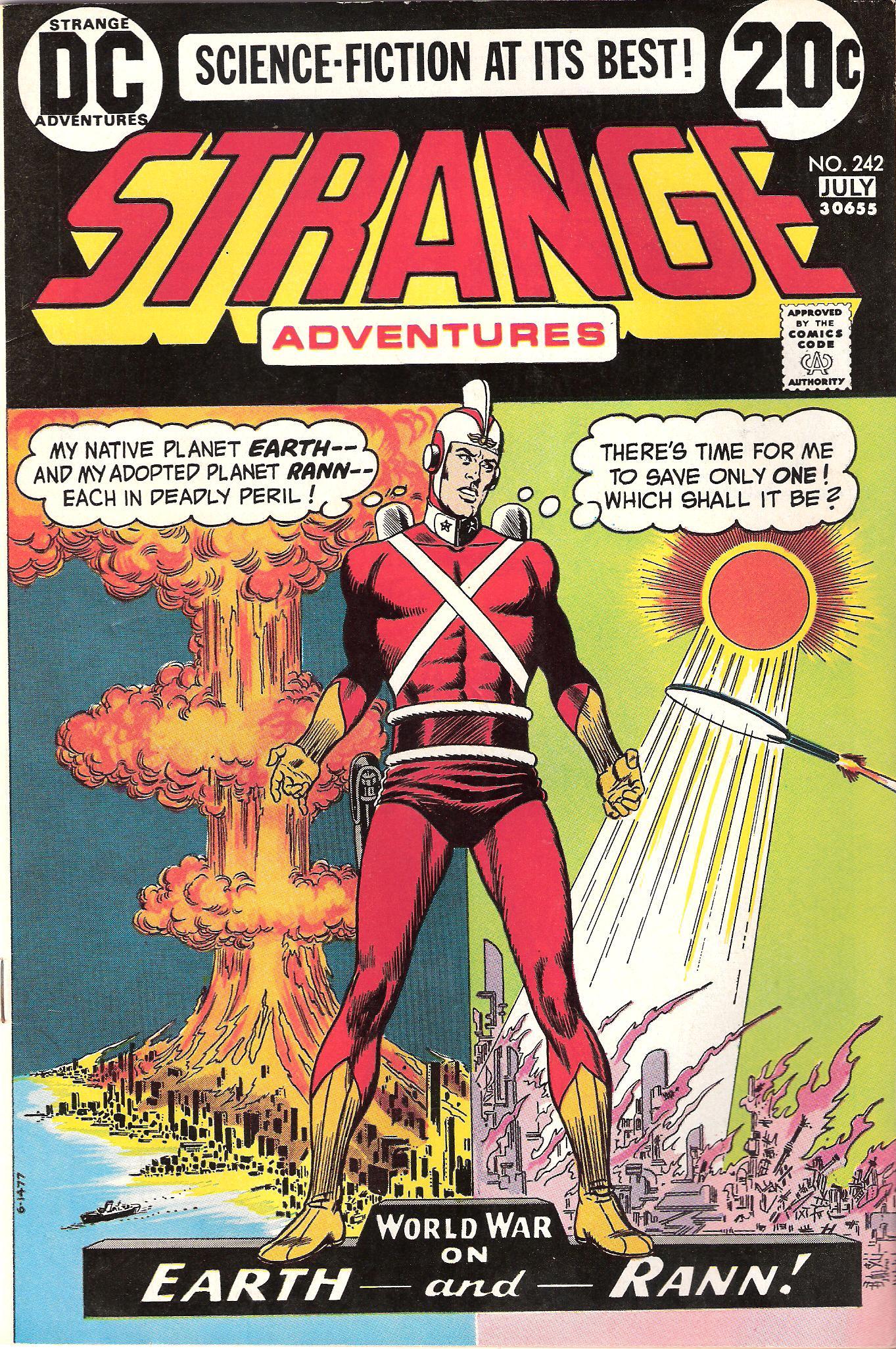Adam Strange in his original costume--