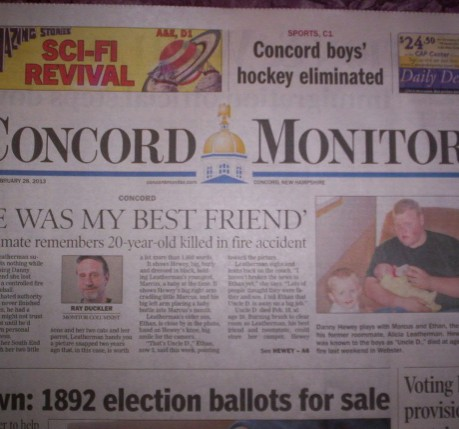 Amazing Stories Featured in Concord Monitor's A&E Section