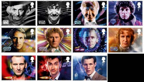 Dr. Who stamps