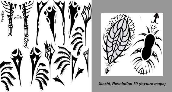 Xiezhi texture maps 21
