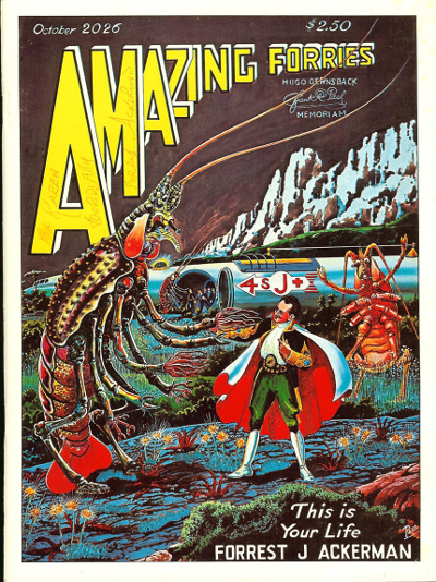 Self-published tribute zine, cover based on Amazing Stories October 1926 cover