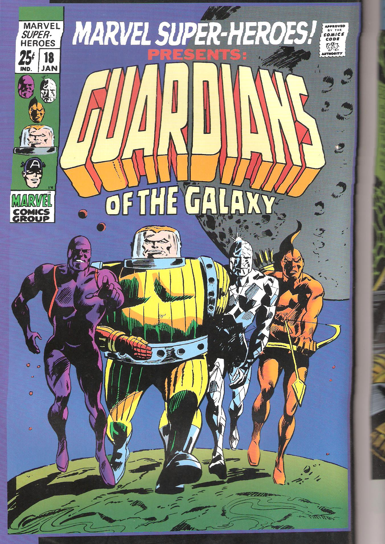 The first line-up of the Guardians Of the Galaxy (l. to r.)-Major Vance Astro; Charlie 27; Martinex and Yondu.