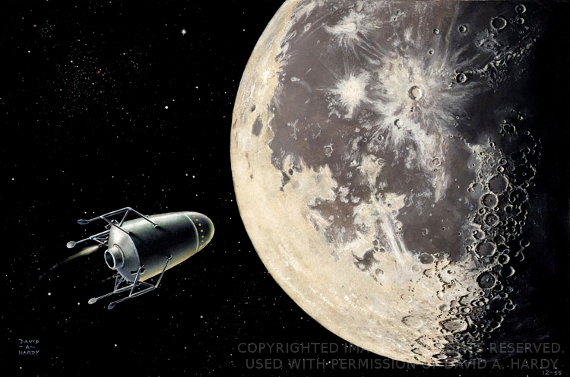 3,000 Miles From the Moon. Image Copyright David A. Hardy