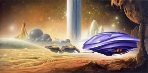 """Jim Burns """"Temporal Void"""" commissioned painting"""