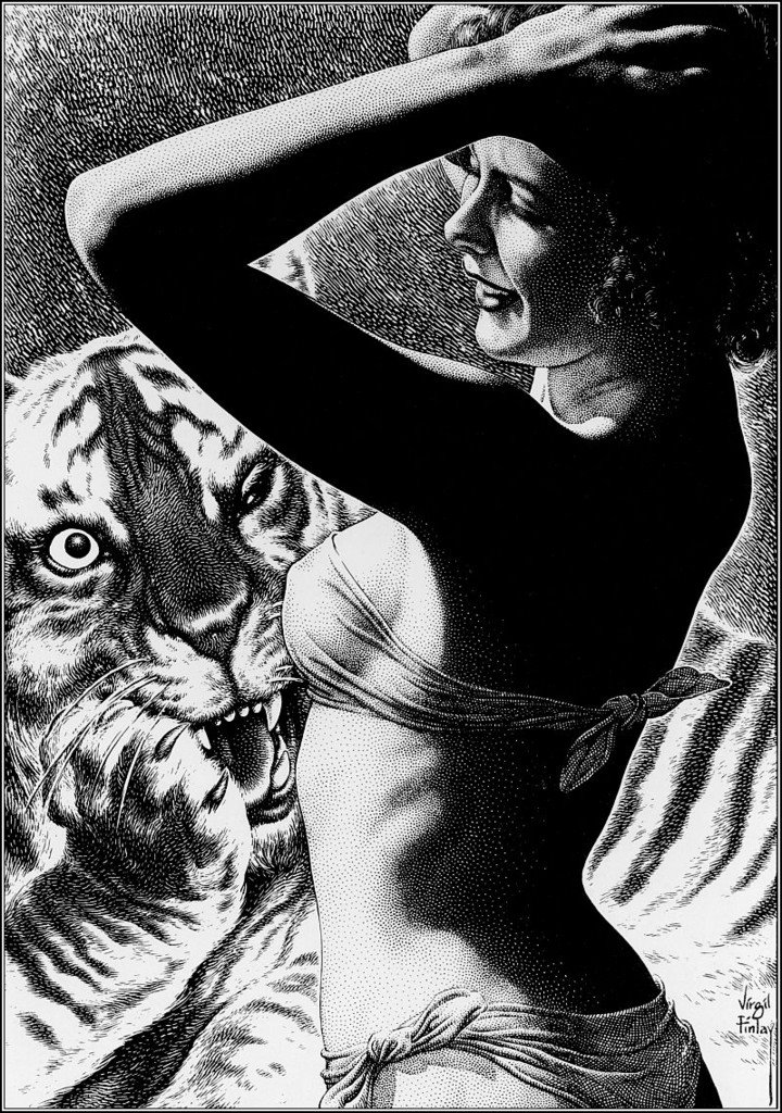 VIRGIL FINLAY Mr Peavey's Tiger