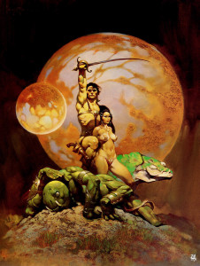 "Frank Frazetta ""A Princess of Mars"" Burroughs Doubleday Cover, 1970"