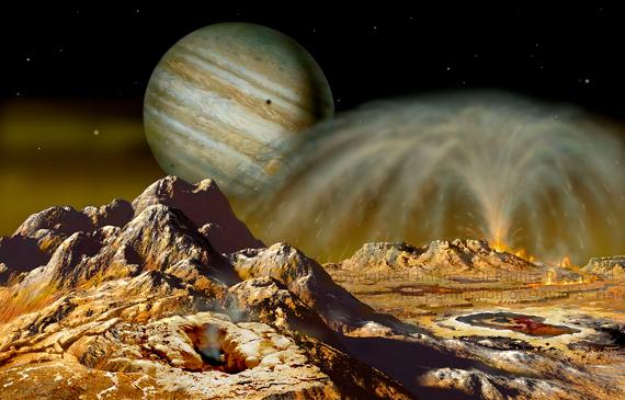 Eruption on Io 2. Copyright David A. Hardy