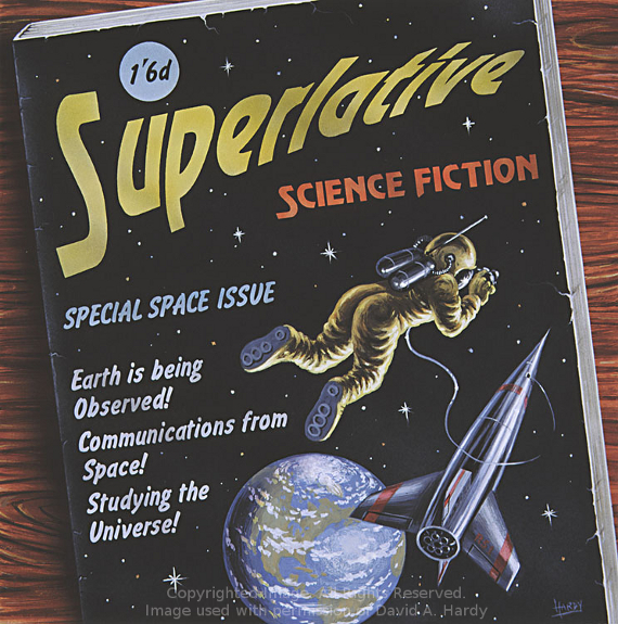 Superlative SF (cover). Copyright David A. hardy