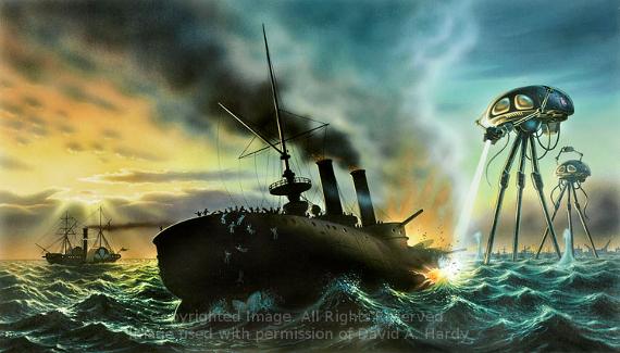 War of the Worlds (original landscape). Copyright David A. Hardy