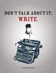 Bradbury & Dont Talk About it Write cover art