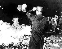 A Nazi burning books - ~1935