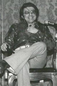 Harlan Ellison at BYOB-5 in 1975. Photo courtesy of Keith Stokes.