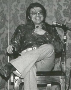 Harlan Ellison at BYOB-5 in 1975. Photo courtesy of Keith Stokes.