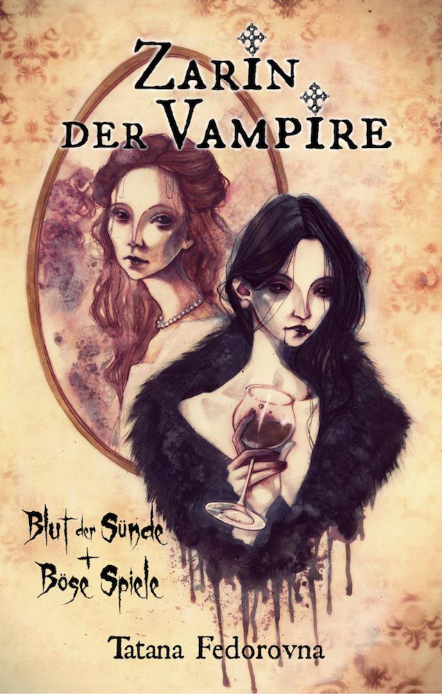 Zarin der Vampire, cover and illustrations by Anja Uhren
