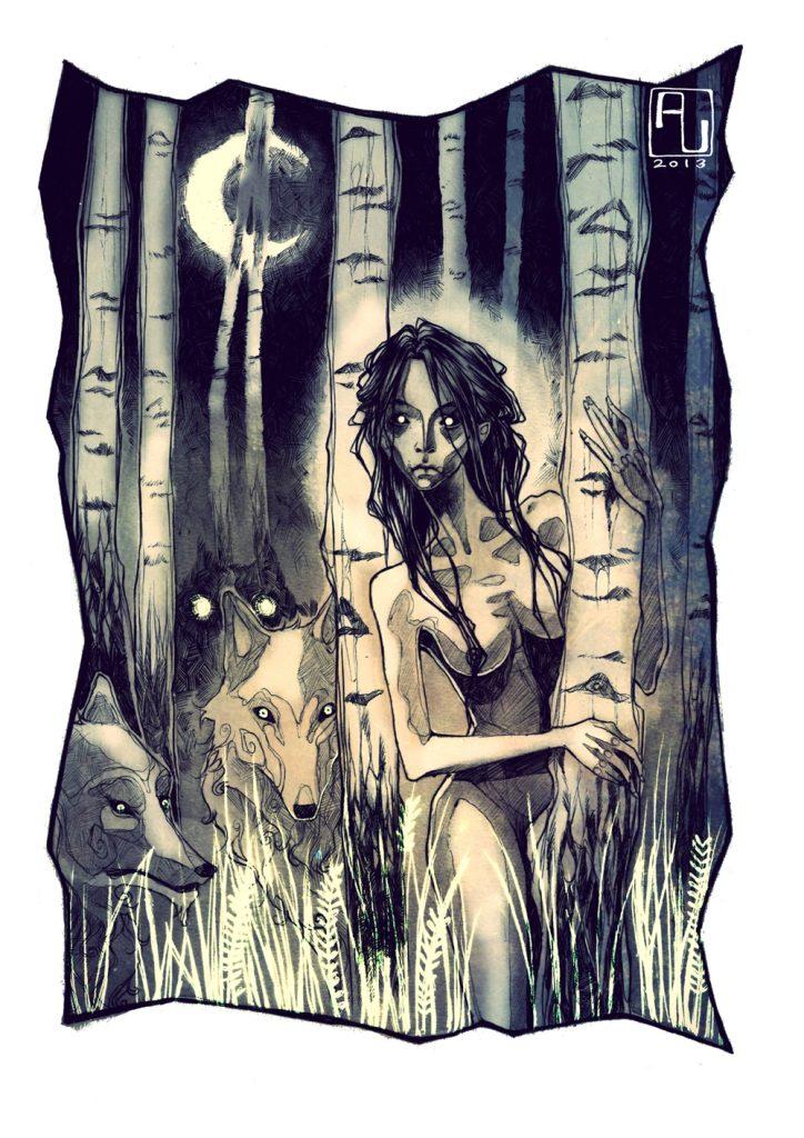 Zarin der Vampire, interior illustration No.5
