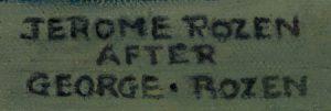 """George Rozen """"after"""" Jerome Rozen signature"""