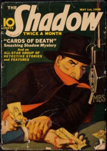 """The Shadow: Cards of Death"" cover by Jerome Rozen"