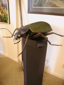 "A exotic giant beetle, captured in the wilds of Hyperboria, whom we we've named ""Bailey"""