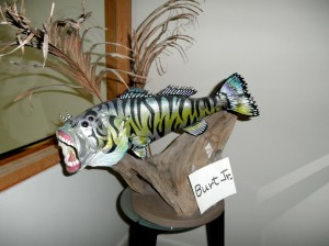 Aggressive, but colorful non-aquatic fish that swims near our kitchen, taunting us with culinary possibilities.