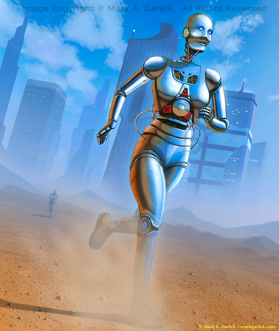 Desert Runners. Image Copyright © Mark A. Garlick.  All Rights Reserved.