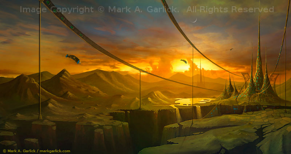 Garland Citadel Image Copyright © Mark A. Garlick.  All Rights Reserved.