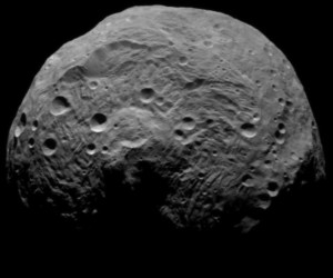 Image of asteroid Vesta from the spacecraft Dawn on July 19, 2011