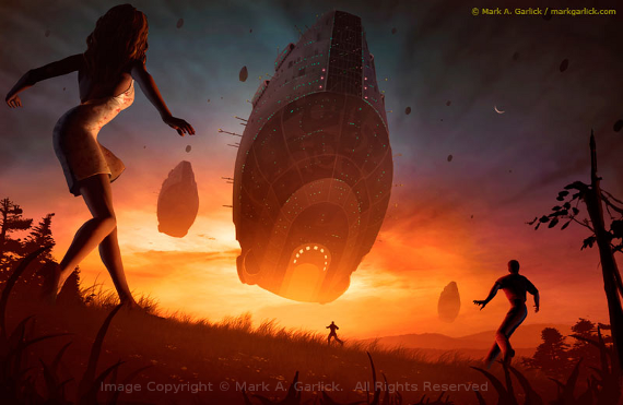 Invasion Image Copyright © Mark A. Garlick.  All Rights Reserved.