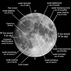 Lunar Map showing Mare Nubium