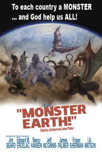 Monster Earth Cover letters placeholder art