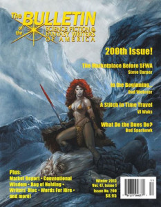 SFWA 200th Anniversary cover with Jeff Easley art.  [SN: I am a member of SFWA and I like this image]