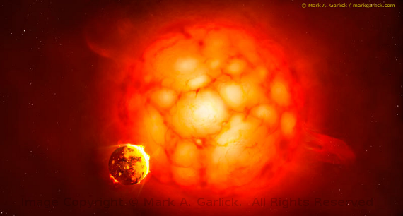 Supergiant Image Copyright © Mark A. Garlick.  All Rights Reserved.