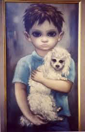 "Walter Keene. ""Boy and his Poodle"" (my title)"
