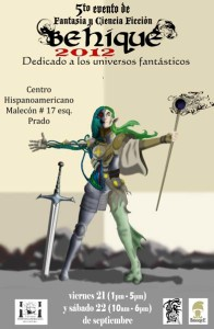 Poster evento behique 2012. menor peso