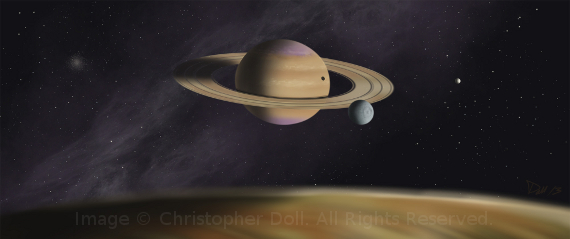 Saturn System. Image Copyright © Christopher Doll. All Rights Reserved.
