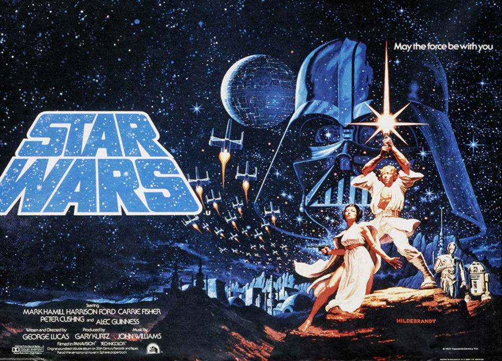 Star Wars original UK quad poster