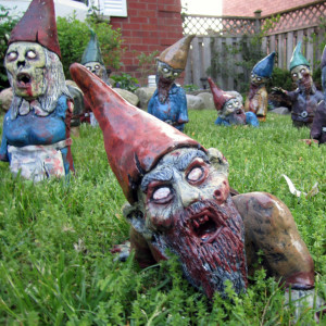 Zombie Garden Gnomes. . . Future Treasured Collectible?  or Temporary Fad Craze?