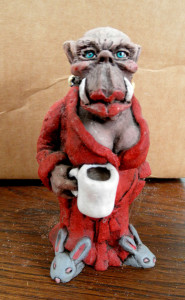 """Jeff Coleman's """"Coffee Lady"""" 5"""" tall, S/N edition 50/200 Resin"""