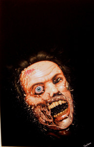 """Terry Oakes """"Maggots"""" cover painting for"""