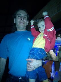 Star Trek fans, padre e hijo
