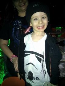 Stars Wars fans, madre e hijo