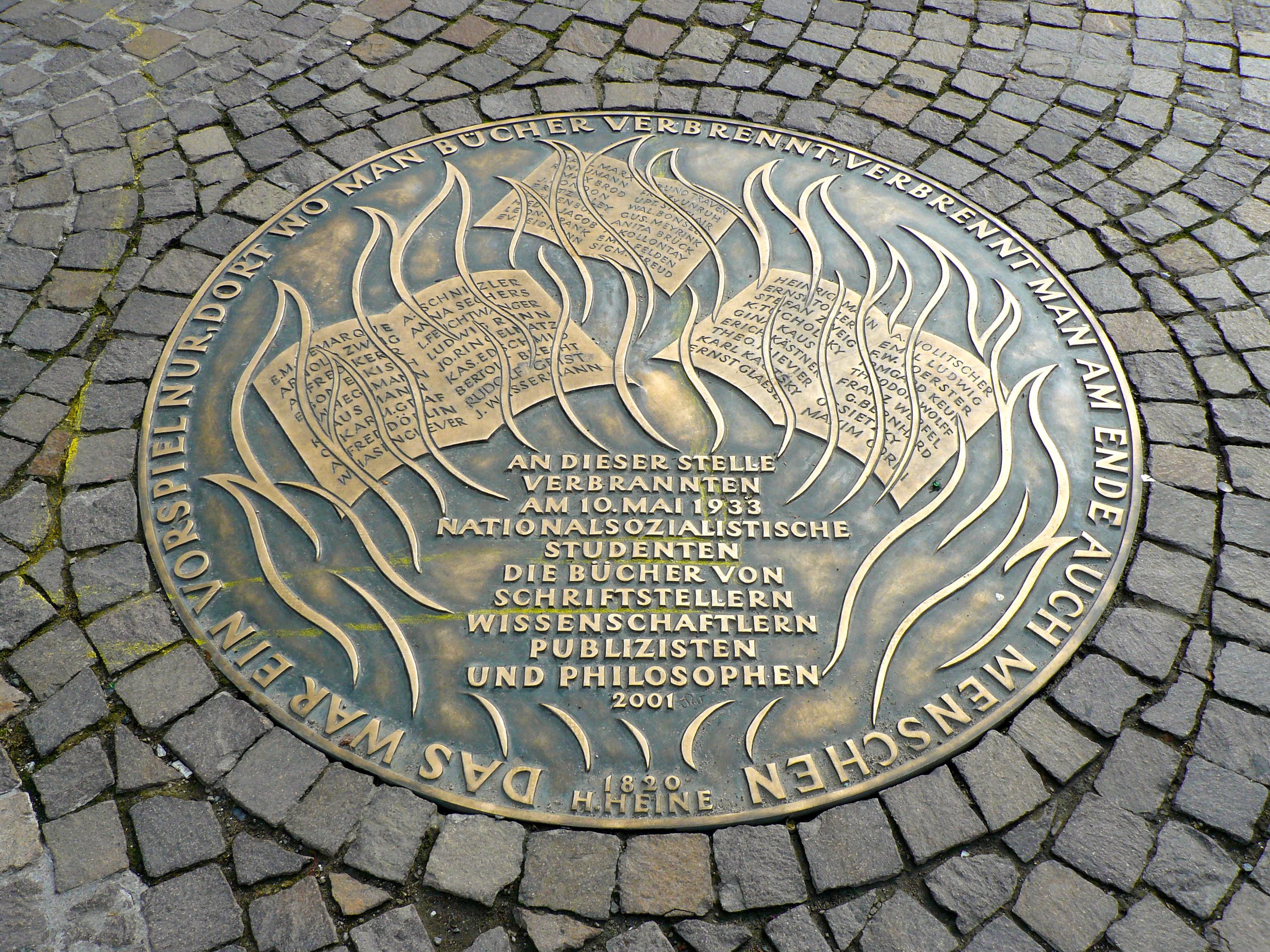 Commemorative_Plaque_book_burning_Frankfurt_Hesse_Germany