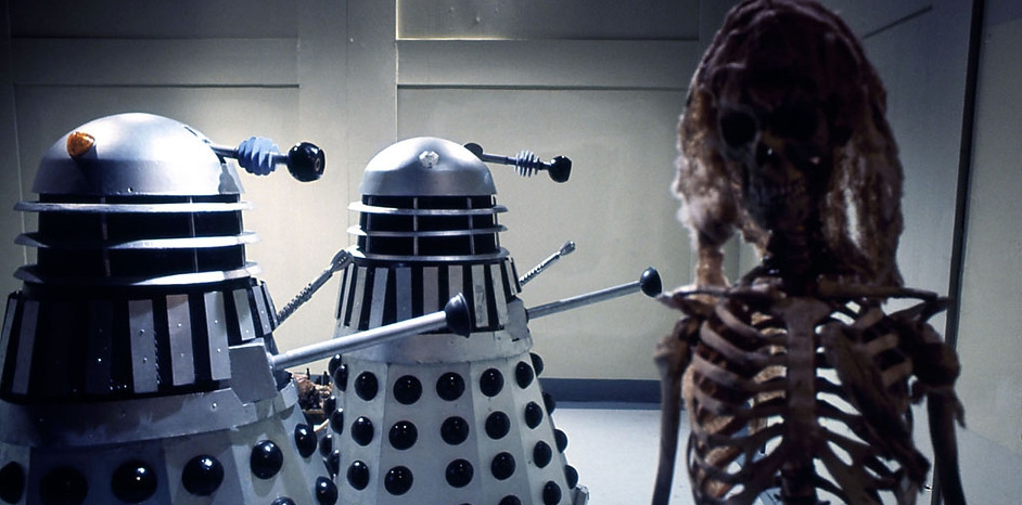 A scene from Death to the Daleks: Episode 4