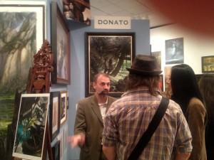 An enthusiastic Donato Giancola talking about his art, at IlluxCon 6