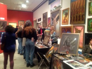 Michael Whelan and Audrey Price showing off some major works at IlluxCon 6